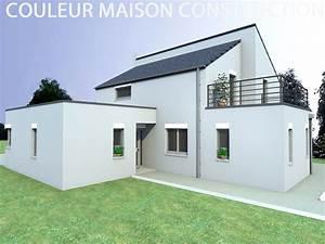 Façade Maison Moderne : couleur facade maison gris ~ Melissatoandfro.com Idées de Décoration