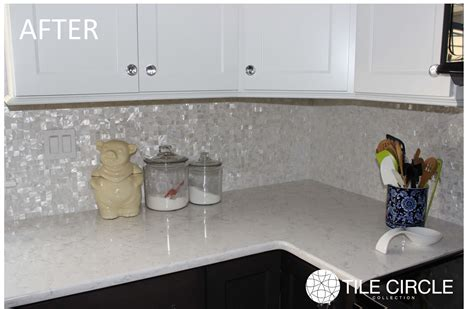 groutless marble tile backsplash pearl backsplash before after photos tile circle