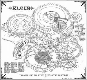 Antique Clock Diagram