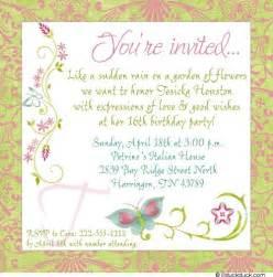 bridal shower invitation wording birthday invitation wording in amazing