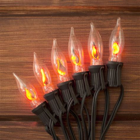 our flickering string lights add a realistic glow to