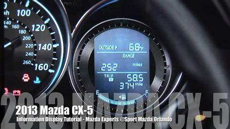 mazda skyactiv cx  information display system youtube