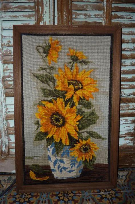 Tapisserie à Fleurs by Tapisserie Canevas Sans Cadre Tournesols Fleurs Tapestry