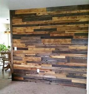 Pallet, Board, Wall, Using, Only, 2, Different, Stains, Oak, And, Espresso