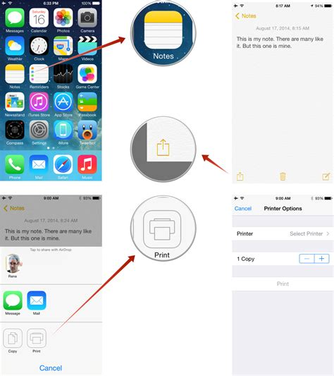 how to print something from your iphone how to and print notes on iphone and imore
