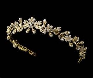 pearl headpiece elizabethan pearl wedding tiaras