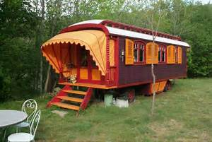 Roulottes' Colorful European-Style Caravans are a Place to
