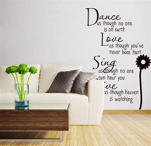 Wall quotes vinyl decalshome decor removable