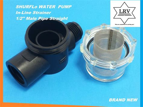 rv and marine water in line strainer filter shurflo 255 313 1 2 quot pipe ebay