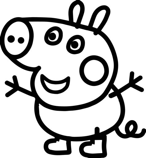 Small Baby Peppa Pig Coloring Page Wecoloringpage com