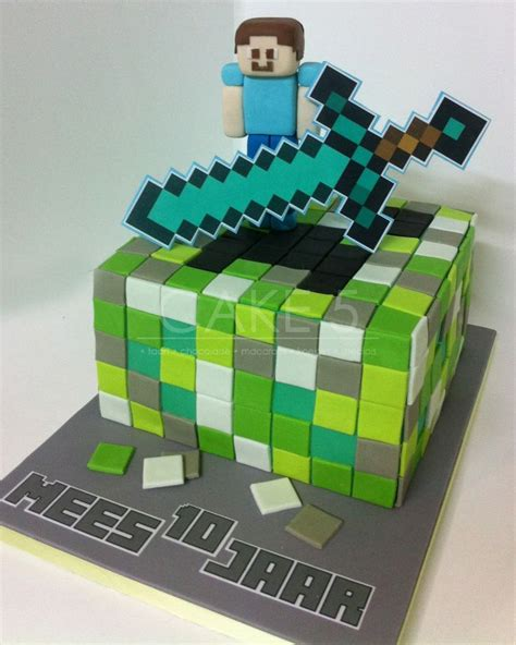 taart minecraft steve cake cakes for the ones