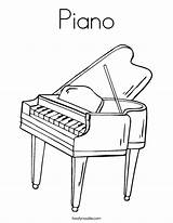 Piano Coloring Pages Keyboard Colouring Play Printable Sheets Twistynoodle Outline Drawing Angel Cartoon Noodle Twisty Usa Tracing Login Favorites sketch template