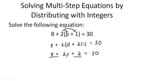 Multistep Equations With Like Terms And Distribution ( Video )  Algebra  Ck12 Foundation