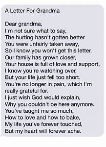 A letter for grandma the grief toolbox for Letter to granddaughter from deceased grandmother