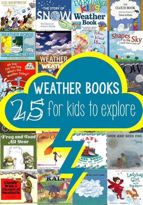 25 weather books to teach all about the weather and 940 | 48722b8574974707ef06d96b5af749e4