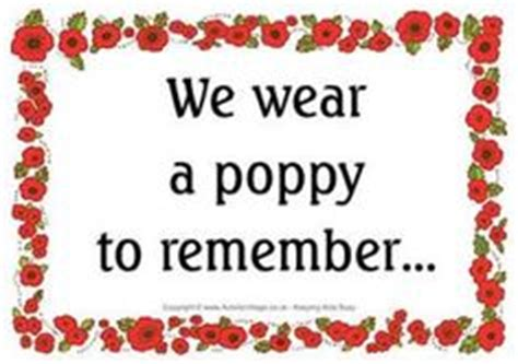 remembrance day poppy  page borders sb