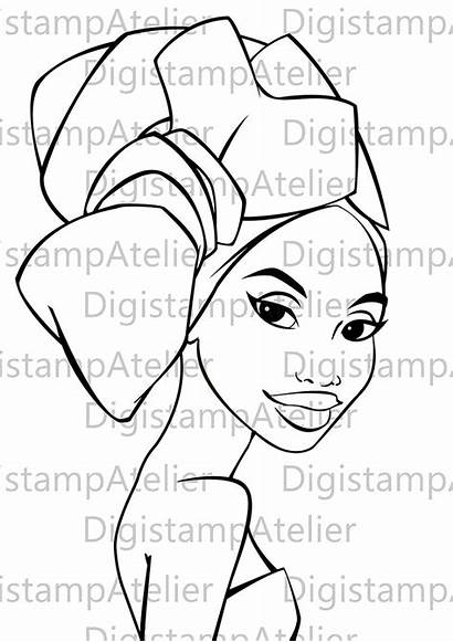 African Coloring Pages Negra Para Afro American