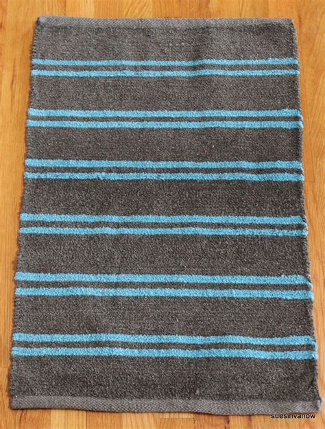 Lt Blue & Gray Chenille Rug Decorative Bath Room Area Rug