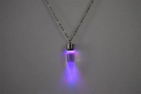 light up glow pendant necklace eternity led