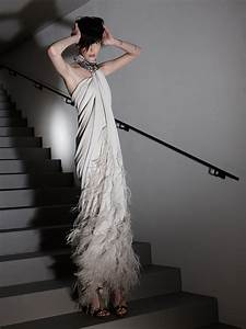 feather adorned lanvin gown onewedcom With lanvin wedding dress