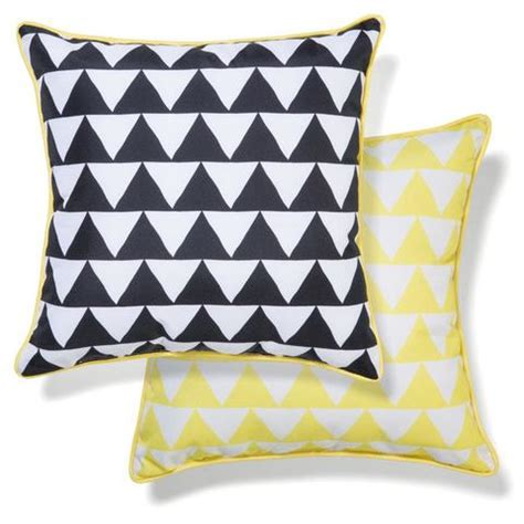 outdoor chair cushion yellow black triangles kmart