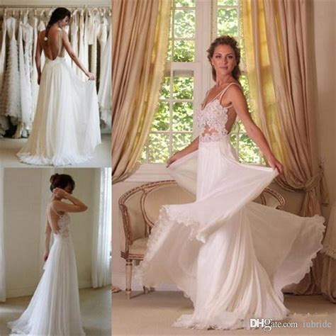 Discount 2015 Wedding Dresses Cheap Bohemian Lace Beach