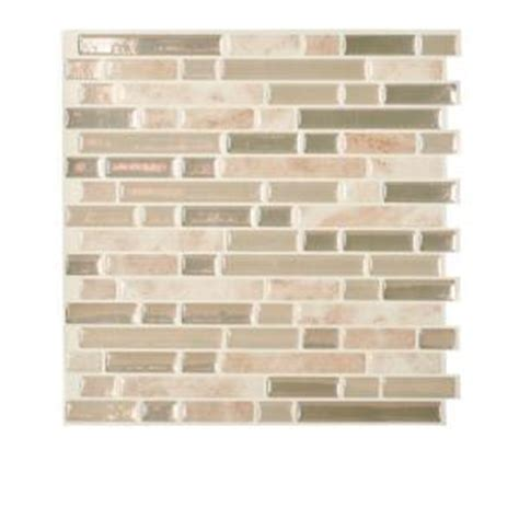 smart tiles peel and stick backsplash presentation smart tiles sabbia 10 06 in x 10 00 in peel and stick