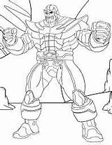 Thanos Coloring Pages Infinity Printable Para Marvel Muscles Avengers Colorear Gaunlet Game Gauntlet Dibujos Colorir Superheroes War Super Paginas Games sketch template