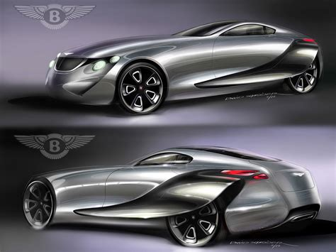 Bentley 2030 Concept Midterm Design Sketches  Car Body Design