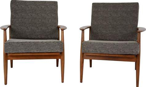 Set Of 2 Vintage Scandinavian Armchairs