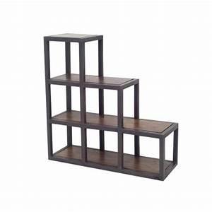 Meuble En Fer : tag re escalier r tro meuble style loft en fer forg ~ Melissatoandfro.com Idées de Décoration