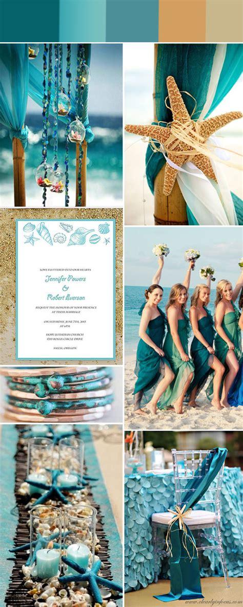 gorgeous summer beach wedding color ideas  invitations