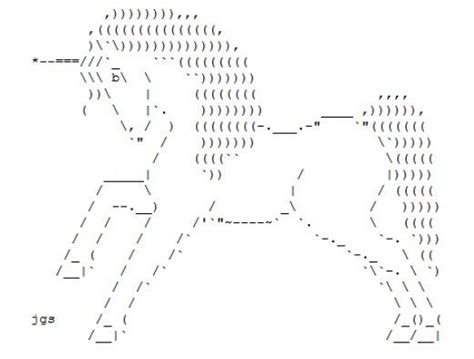 The Legendary, Virginal Unicorn In Ascii Text Art