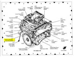 similiar ford 5 4 engine parts diagram keywords coolant temperature sensor location 1997 ford expedition 5 4l engine