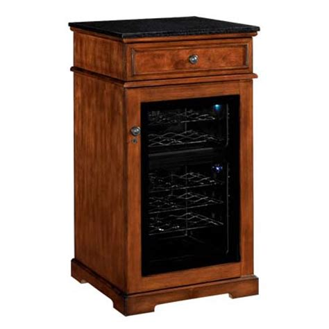 tresanti madison refrigerated wine cabinet cherry and