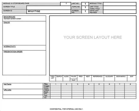 Design Storyboard Template by Website Screen Layout Storyboard Template Webpage