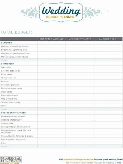 Planner Budget Printable Planners Planning Spreadsheet Printables