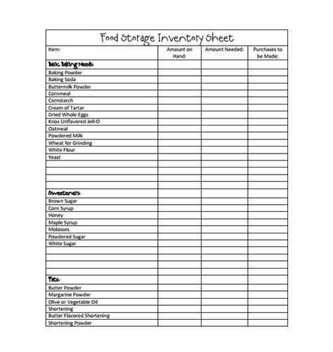 Inventory Template Food Inventory Template In Ms Excel Format Excel Template