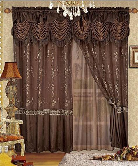 luxurious curtains drapes luxury window panel valance sheer curtain set home