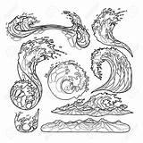 Tsunami Drawing Ocean Line Getdrawings sketch template