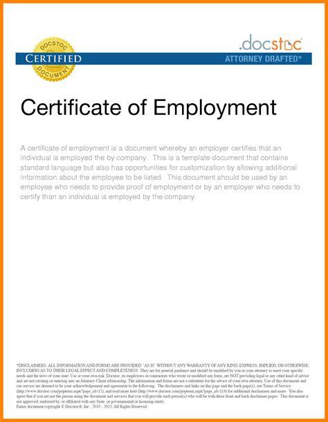 certification employment letter sample job letteres