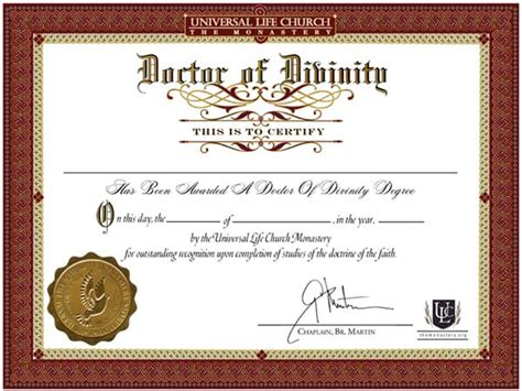 certificate of wiccan ordination template free honorary dr of divinity certificate d d universal life