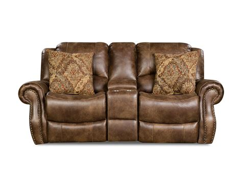 Loveseat Console by Waylon Mocha Reclining Console Loveseat