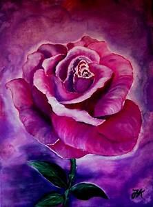 Blumen Bilder Gemalt : rose 2 lila rose violett blumen von jadranka keilwerth bei kunstnet ~ Orissabook.com Haus und Dekorationen