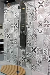 Faience Imitation Carreaux De Ciment : carrelage effet carreaux de ciment schelfhout be bathroom ~ Dode.kayakingforconservation.com Idées de Décoration