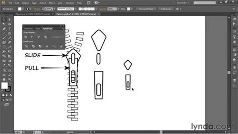 creating  zipper pull symbol