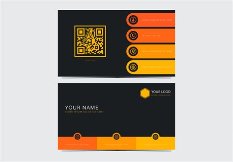 card template for yellow stylish business card template free