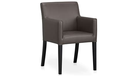 Lowe Smoke Leather Dining Arm Chair + Reviews
