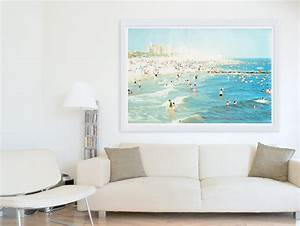 Oversized art large wall coney island beach by minagraphy