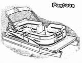 Pontoon Boat Coloring Clipart Drawing Motor Printable Preschoolers Clipground Library sketch template